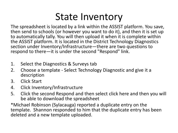State Inventory
