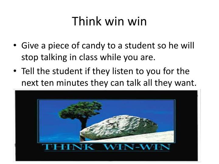 Think win