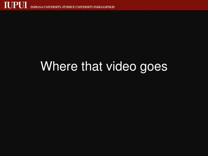 Where that video goes