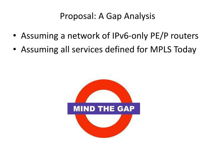 Proposal: A Gap Analysis
