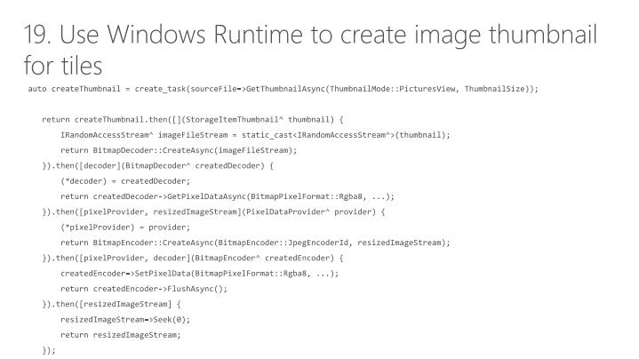 19. Use Windows Runtime