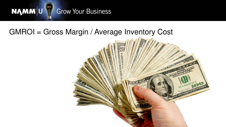 GMROI = Gross Margin / Average Inventory Cost