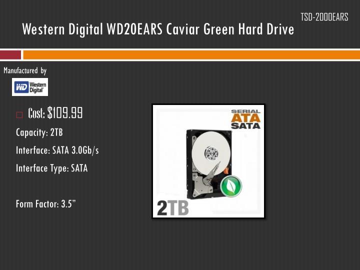 Western Digital WD20EARS Caviar Green Hard Drive