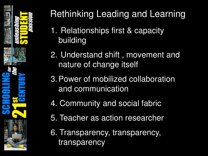 Rethinking Leading and Learning