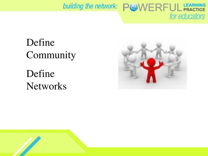 Define Community