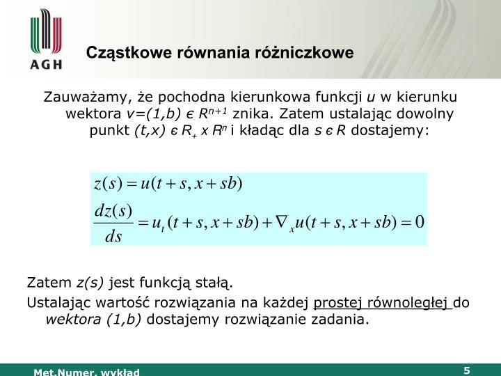 Cząstkowe równania różniczkowe