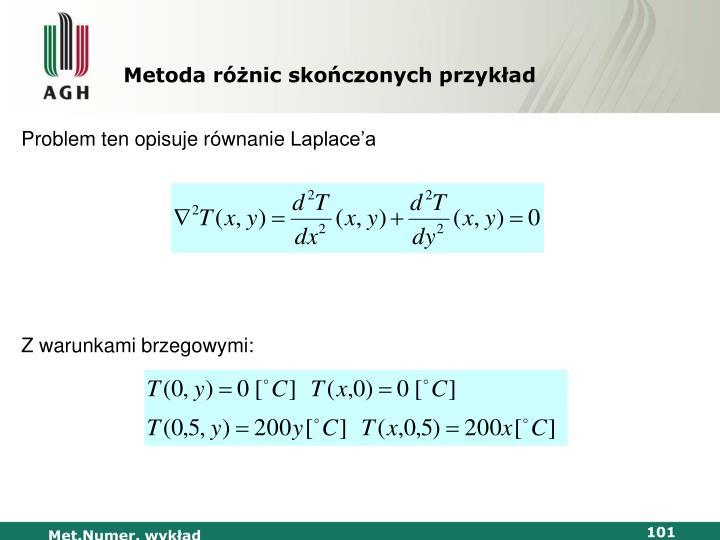 Metoda różnic skończonych przykład