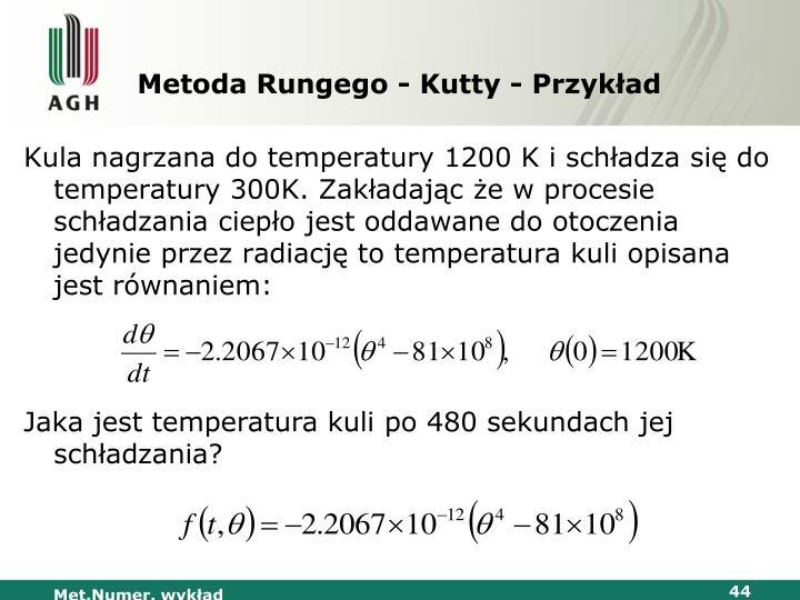 Metoda Rungego - Kutty - Przykład