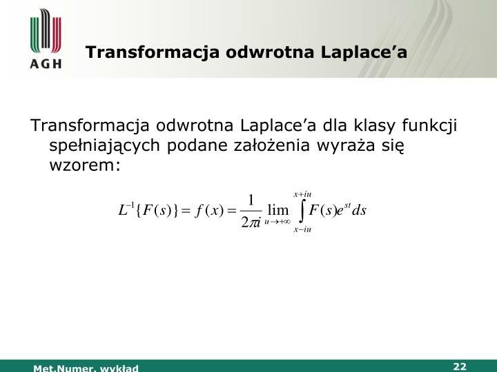 Transformacja odwrotna Laplace'a
