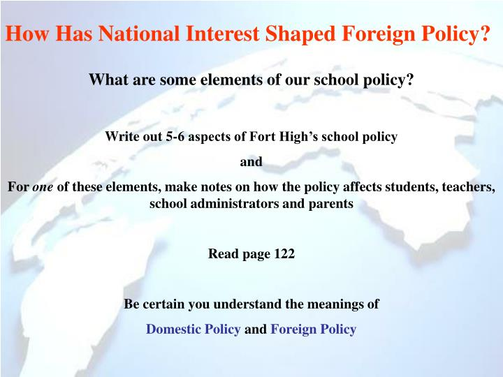 How Has National Interest Shaped Foreign Policy?