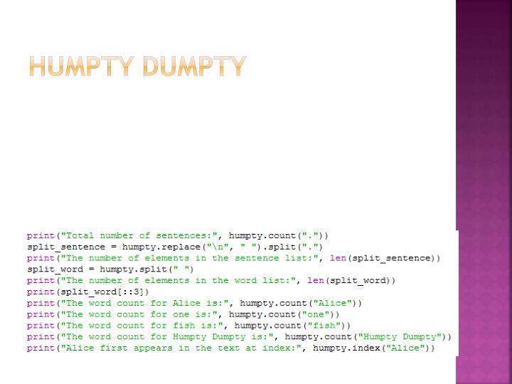 Humpty Dumpty