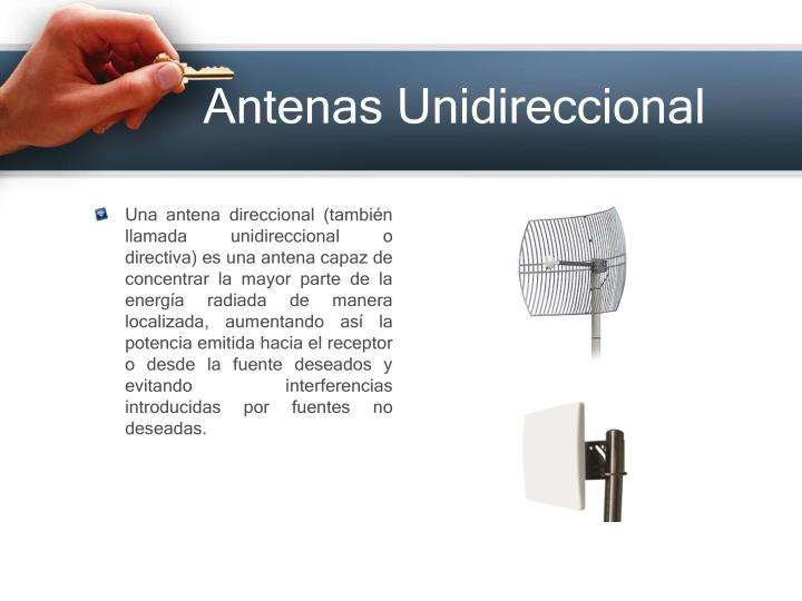 Antenas Unidireccional