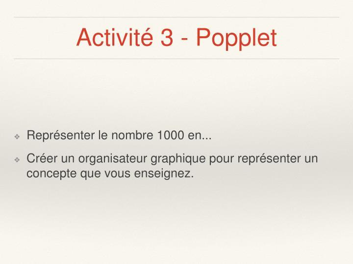 Activité 3 - Popplet