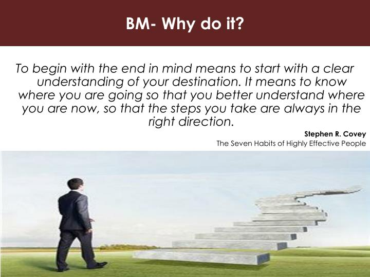 BM- Why do it?