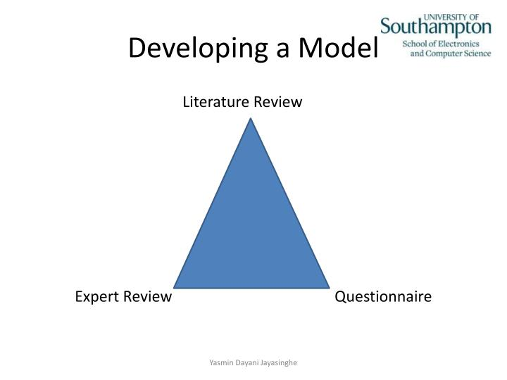 Developing a Model