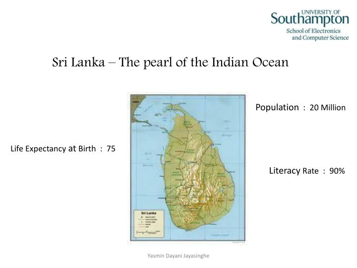 Sri lanka the pearl of the indian ocean