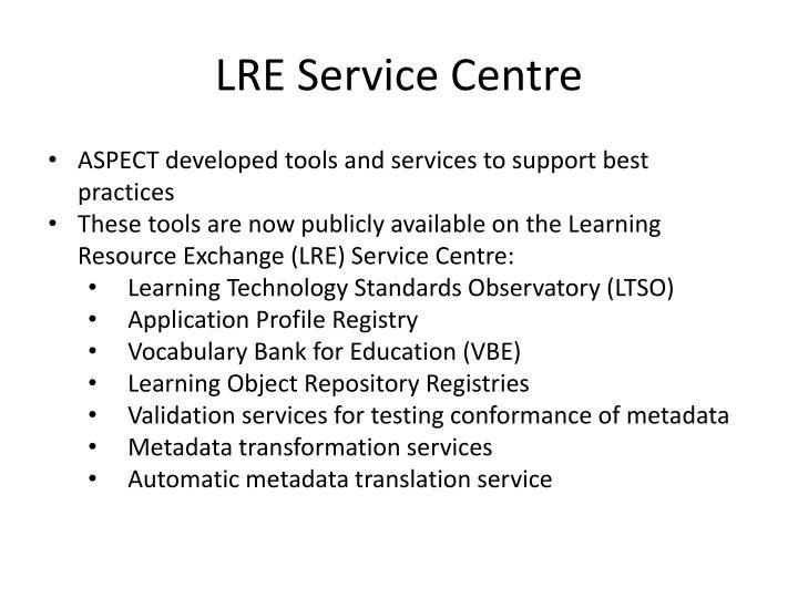 LRE Service Centre