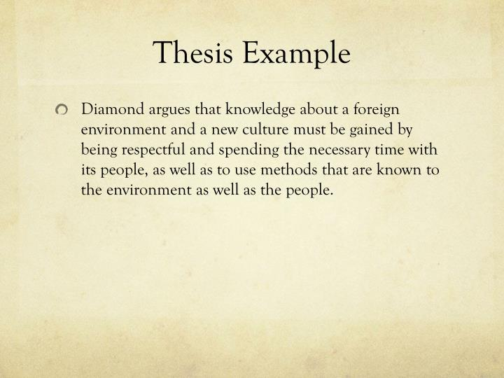 Thesis Example