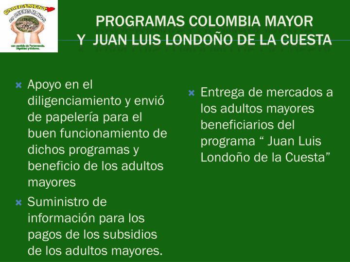 PROGRAMAS COLOMBIA