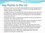 key points in the us