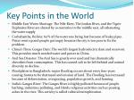 key points in the world