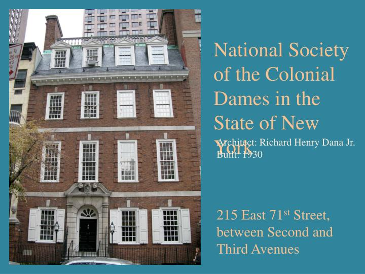 National Society of the Colonial