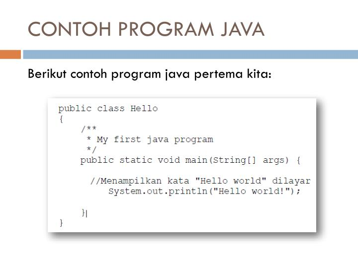 CONTOH PROGRAM JAVA