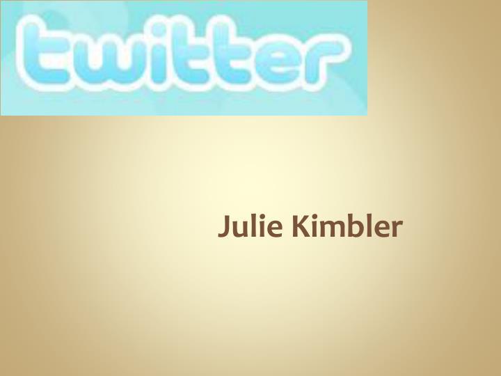 Julie Kimbler