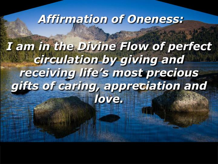 Affirmation of Oneness: