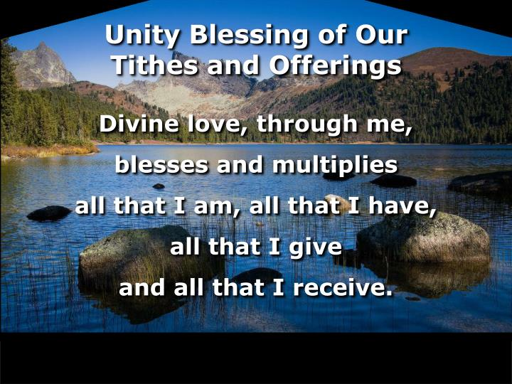Unity Blessing of Our