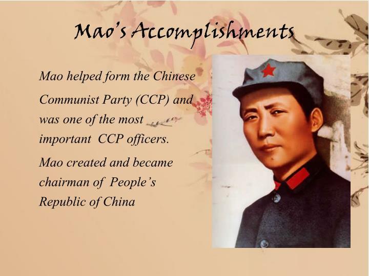 Mao's Accomplishments