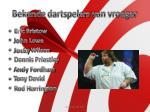 bekende dartspelers van vroeger