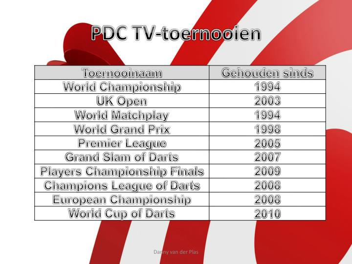 PDC TV-