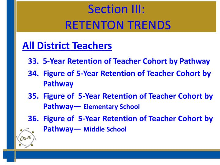 Section III: