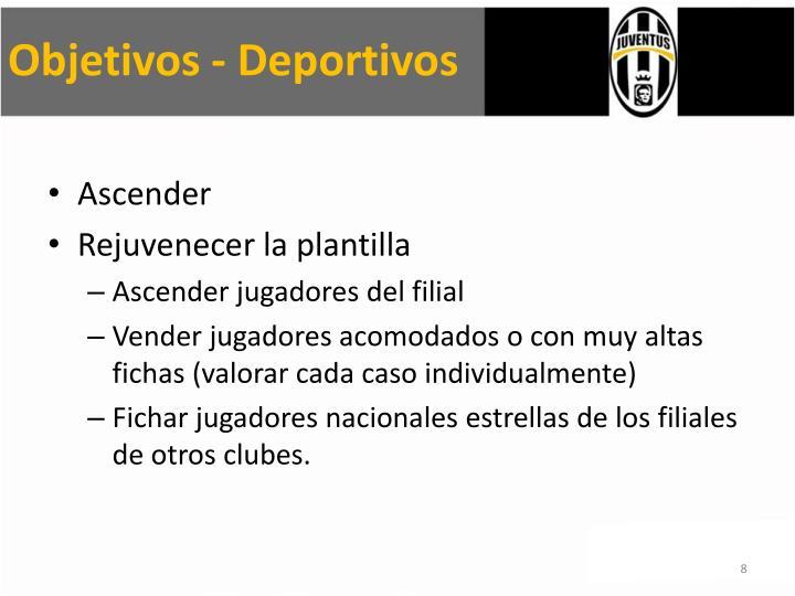 Objetivos - Deportivos