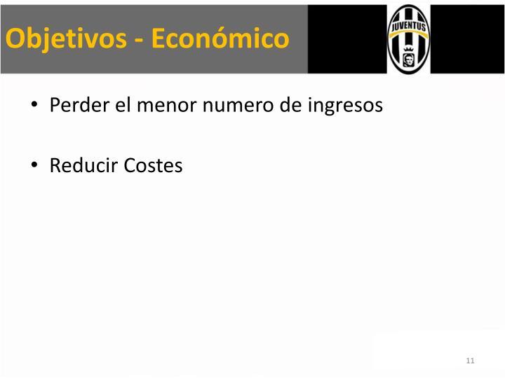 Objetivos - Económico