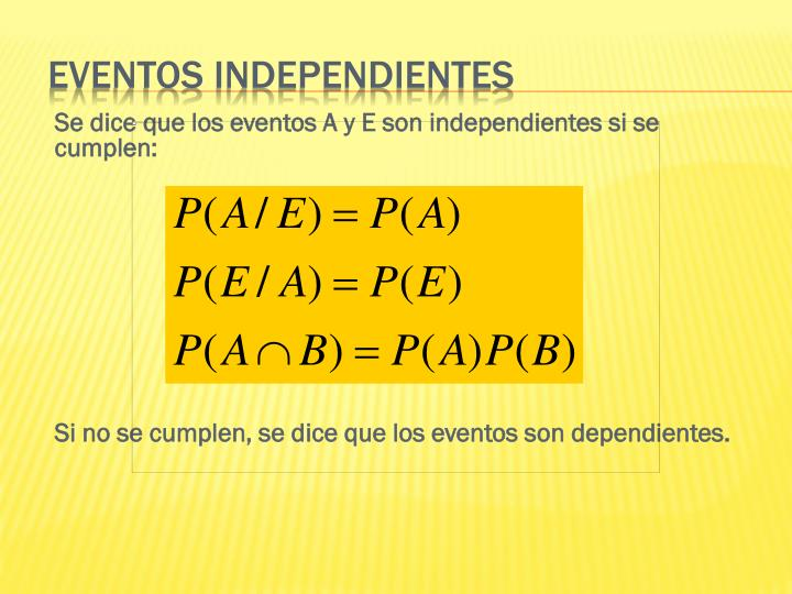 Eventos independientes