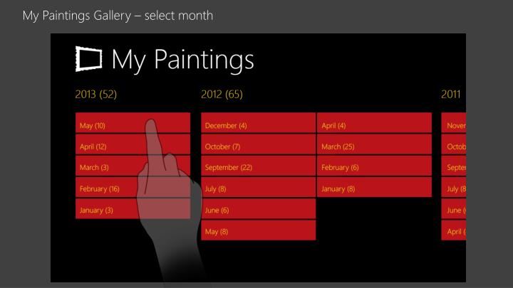 My Paintings Gallery – select month