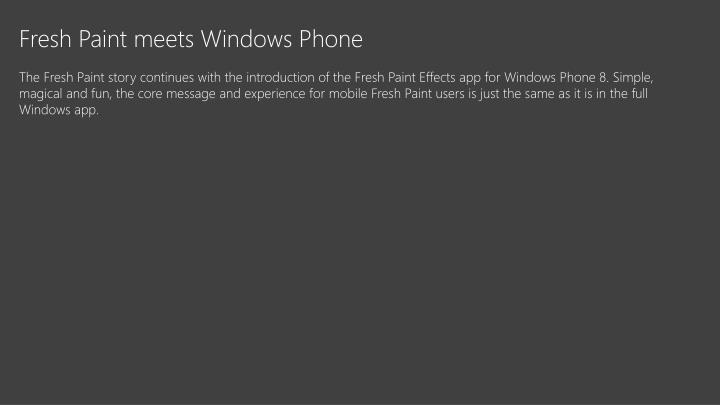 Fresh Paint meets Windows Phone