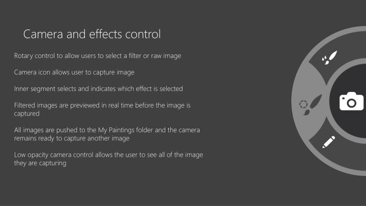 Camera and effects control