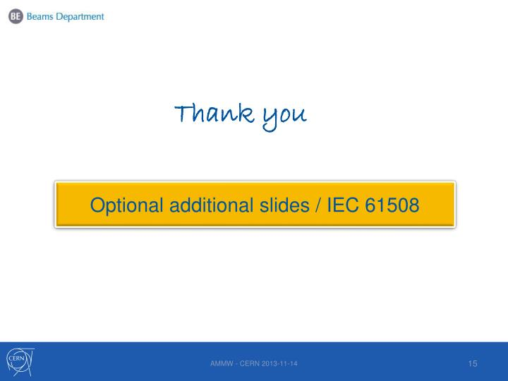Optional additional slides / IEC 61508