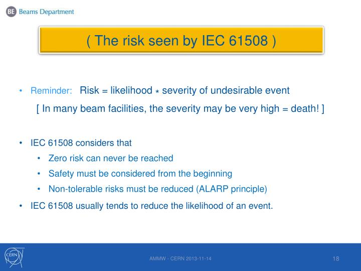( The risk seen by IEC 61508 )