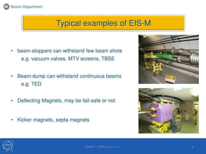 Typical examples of EIS-M