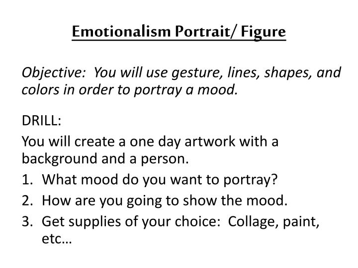 Emotionalism Portrait/ Figure