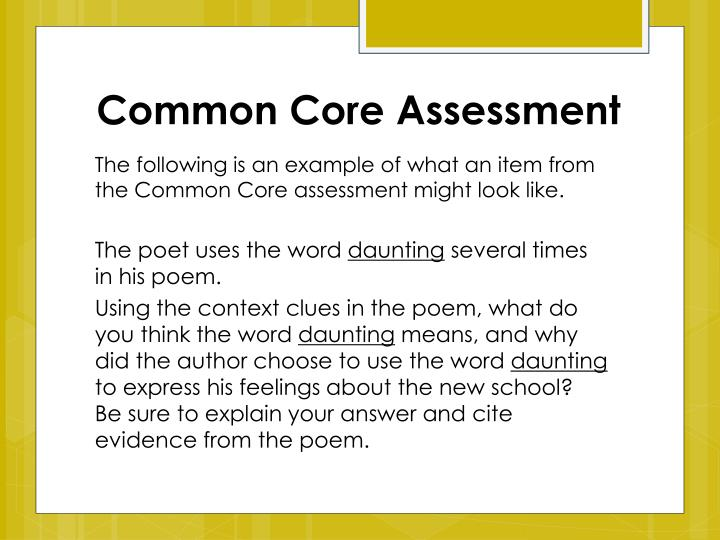 Common Core Assessment