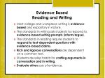 evidence based reading and writing
