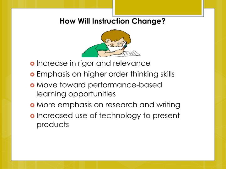 How Will Instruction Change?