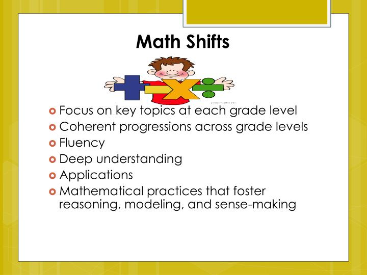 Math Shifts