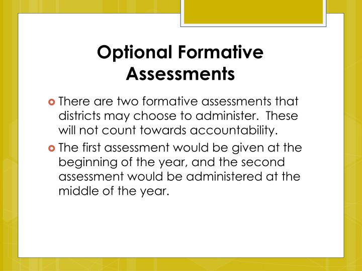 Optional Formative Assessments