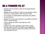 be a thinker pg 27